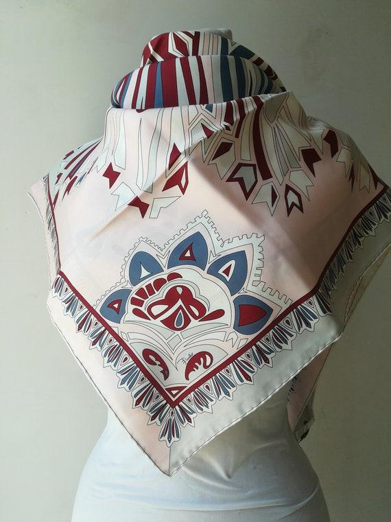 Emilio Pucci vintage silk scarf.