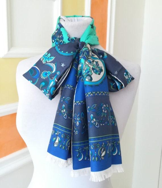 Emilio Pucci, multicolored silk scarf.