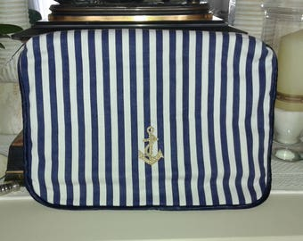 Large zipper pouch Navy theme for lingerie