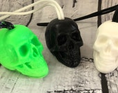 Skull Soap On A Rope - Halloween Soap - Day of the Dead Soap - Dia De Los Muertos - Halloween Soap Favors - Halloween Party Favors