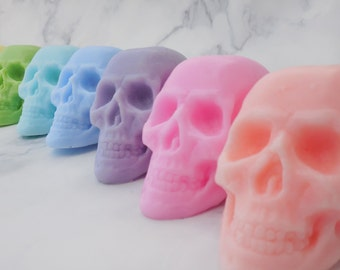 Skull Soap - Halloween Soap - Day of the Dead Soap - Dia De Los Muertos - Non Edible Halloween Favors - Halloween Party Favors - Scary Soap