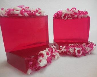 Candy Apple Soap - Pink Apple Soap - Glycerin Soap - Fruity Soap - Valentines Day Soap - Moisturizing Soap - Pink Soap - Fresh Apple Soap