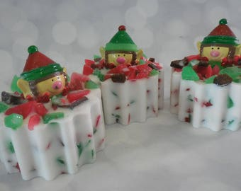 Elf Soap - Elf Toy - Toy Soap - Christmas Soap - Soap Stocking Stuffer - Holiday Soap - Kids Novelty Soap - Peppermint Soap - Holiday Soap