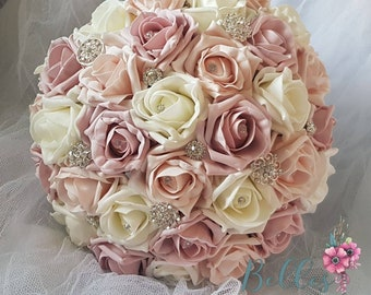 DIAMANTE PINS WEDDING FLOWER BOUQUET CAKE JEWELRY 100 PINK