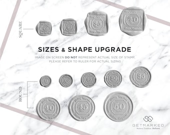 Size/Shape Upgrade for Customized Wax Seal Stamp (UP0002)