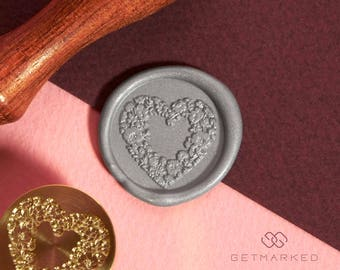 Blissful Heart - Wax Seal Stamp by Get Marked (WS0421)