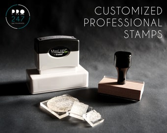 Customized Self-Inking Return Address Stamp / Wood-mount Rubber Stamp / Clear Acrylic Block (RS0001)