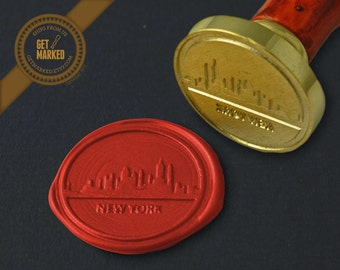 New York Skyline - Wax Seal Stamp by Get Marked (WS0054)
