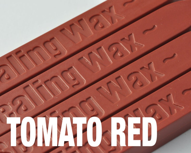 2 Pieces TOMATO RED Wicked Wax Stick for Sealing Wax Stamping ZD0022