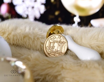 Season's Greetings_4 - Premium Christmas Collection Wax Seal Stamp by Get Marked (WS0490)