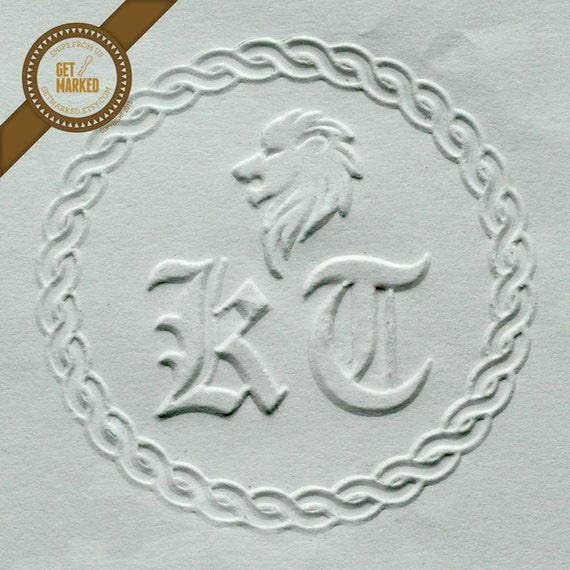 Lion Customized Embosser Stamp Template by Get Marked   Etsy