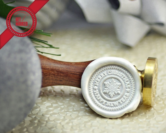 WS0259 Merry Christmas /& Happy New Year Christmas Collection Wax Seal Stamp by Get Marked
