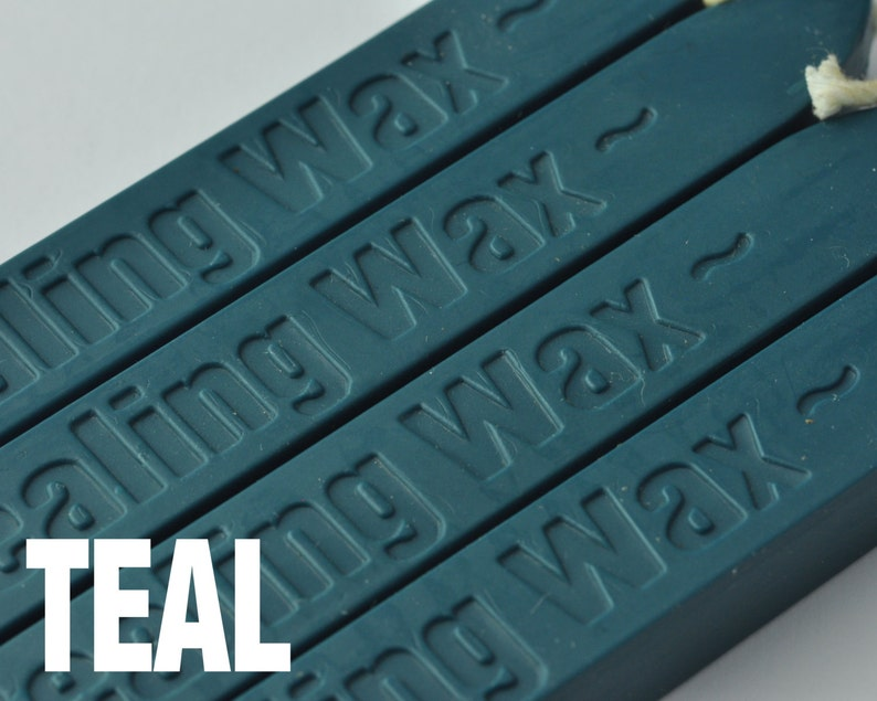 2 Pieces TEAL Wicked Wax Stick for Sealing Wax Stamping ZD0020