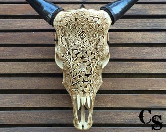 cow skull art etsy