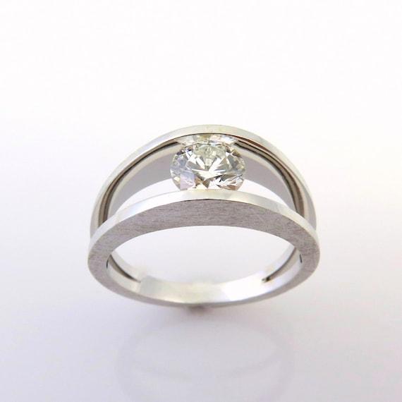 1 Ct Diamond Ring 18k Diamond Ring Women White Gold Etsy