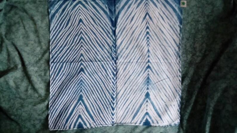 Arashi shibori bandana - pure cotton bandanas with Japanese pole wrapped  tie-dye stripe pattern