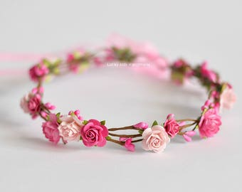 Hair Accessories The Cheapest Price Pink Flower Headband Baby & Toddler Clothing