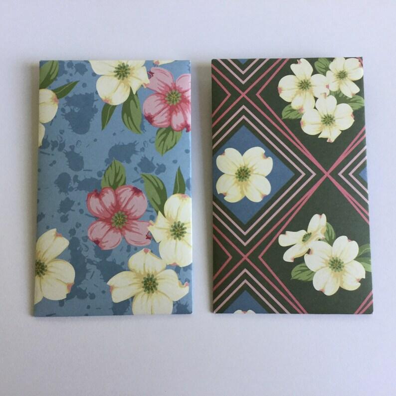 Floral gift card envelopes wedding favour planner pockets flowers Patterned envelopes set of 8 money envelopes love notes