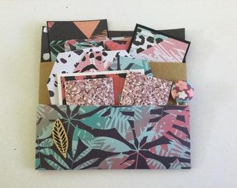 Loaded Pocket, junk journal insert, tags and ephemera, pocket tag, spring journaling, snail mail, scrapbooking, craft