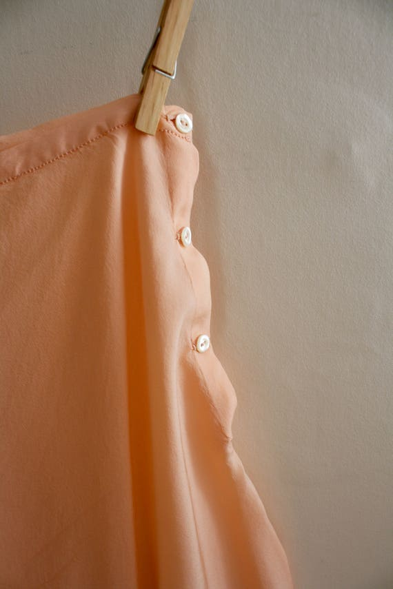 30s Silk Hem Panties Scalloped Extra XS Size Silk Small Knickers Pants Tap Peach 1930s Hand Embroidered dtqwUCC