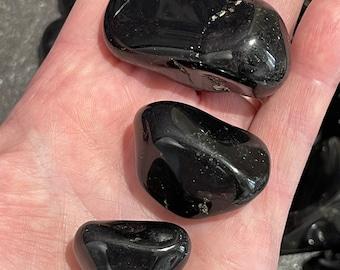 Large Black Onyx Tumble Stone - Large OR Extra Large Size Polished Gemstone Crystal - Crystal Healing - Chakra - Reiki - Protection