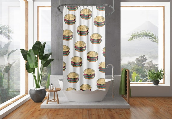 Hamburgers douche gordijn Hamburger douchegordijn douche | Etsy