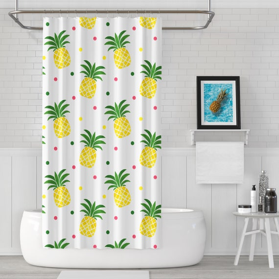 Pineapples Shower Curtain Tropical