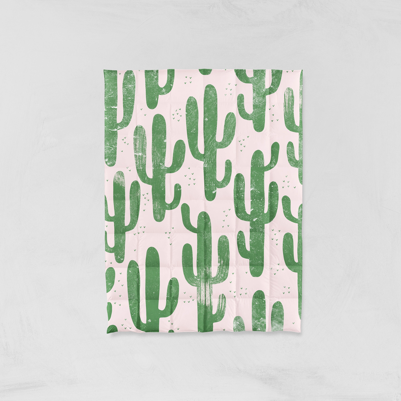 Doudou cactus, literie de cactus, couverture de lit de cactus, cactus, couette Reine, couette pleine, chambre de cactus, couette roi, rose