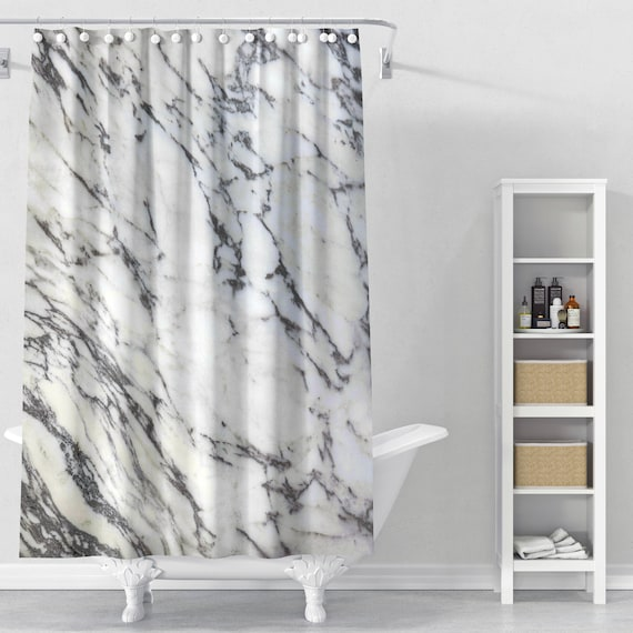 Marble Shower Curtain Stone