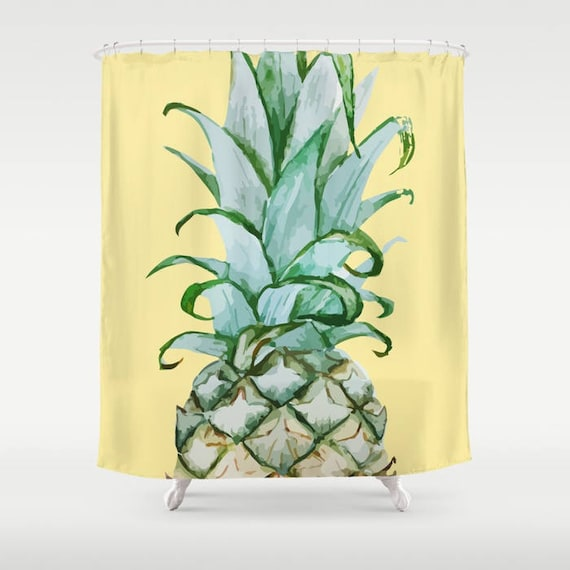 Pineapple Shower Curtain Tropical