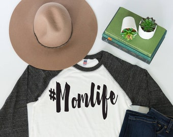 4d3967cc9 Momlife Graphic Baseball Tee   Mom Life Shirts   Best Selling Items  Handmade   Mom Shirts With Sayings   Trending Now   T Shirts for Women