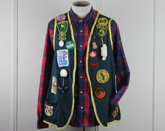 3235ea15f2ef 1970s Skeeter Swatter Vest with tons of vintage NJ NCHA patches - hiking,  camping, old geezer, hunting + fishing vest - one size fits most