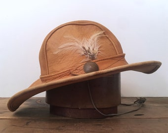 d00121ce2ee Leather hippie hat