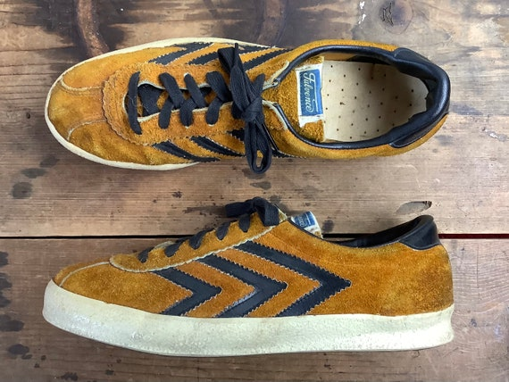 size 8, vintage Fulvence sneakers - 1970-80s rusty
