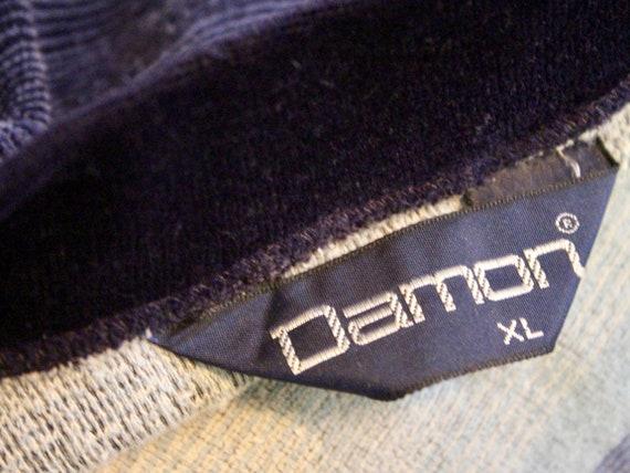 1970s men's velour v neck striped shirt - DAMON -… - image 10
