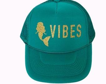 8afde357cfa Bachelorette Party hats/ Bachelorette party favor / Mermaid VIBES / Tribe  hats/ Squad hats/ Mermaid theme bachelorette/ Girls Weekend