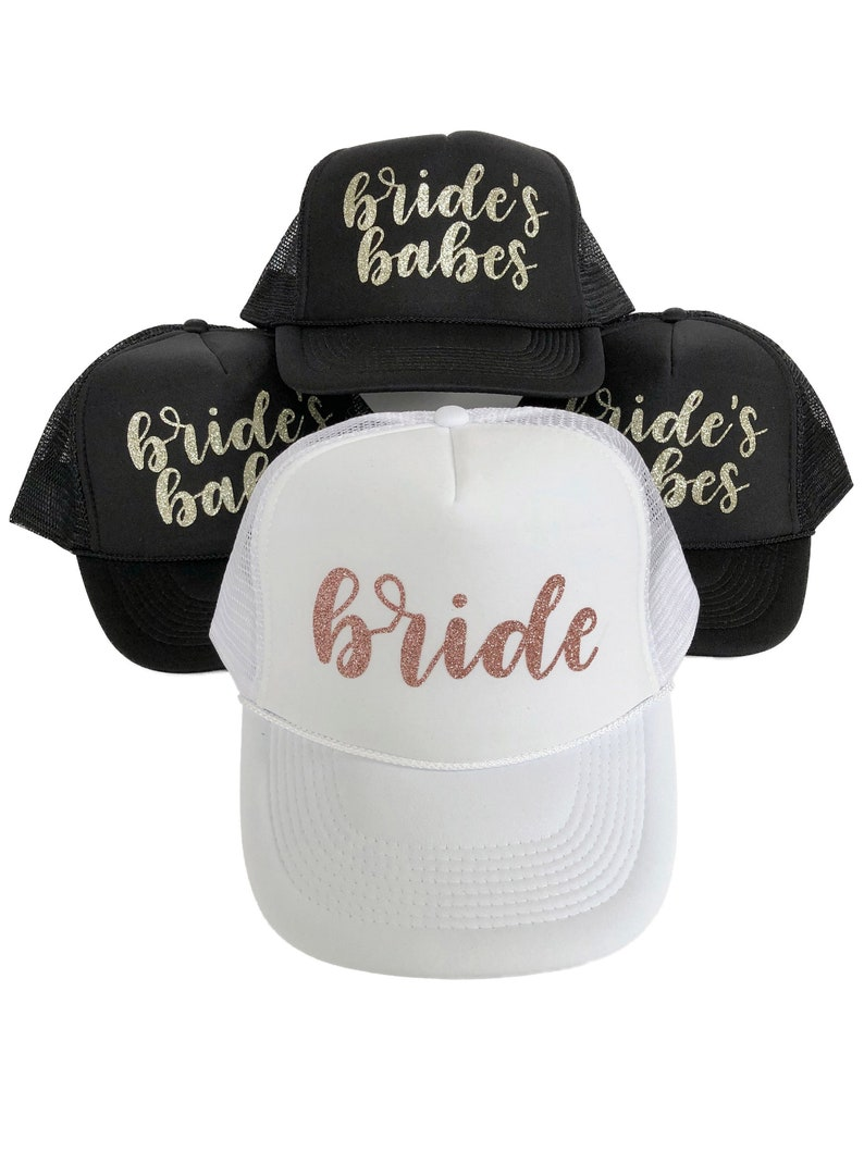 993c9d47 Bachelorette Party Squad Trucker hats/ Bachelorette party | Etsy