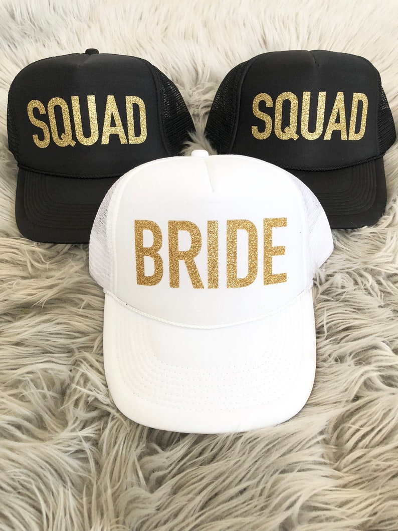 c809f8d0e Bachelorette Party Squad hats/ Bachelorette party favor / Bride / #VACAY /  TRIBE / Squad Glitter / Trucker Hat Neon colors/ Girls Weekend