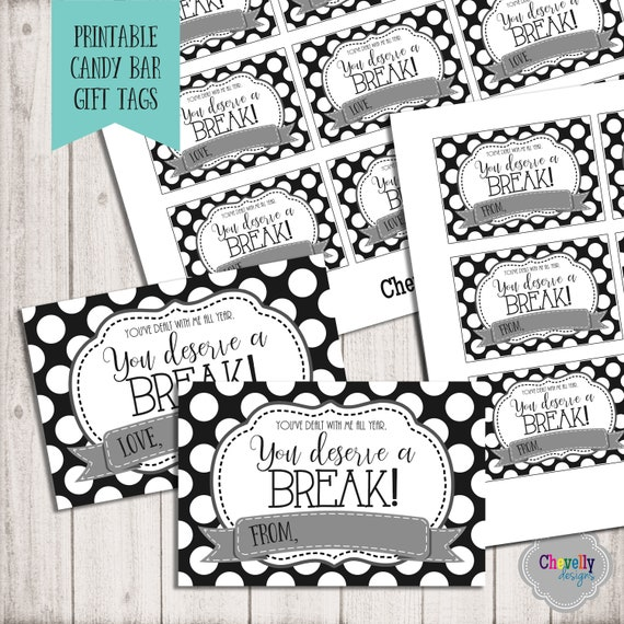 Delicate image throughout you deserve a break printable