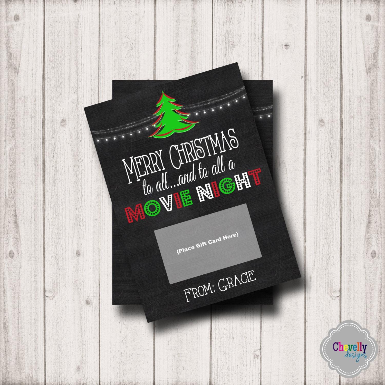 Nacht Weihnachten Geschenk Karte Printable XMAS008 Kino   Etsy
