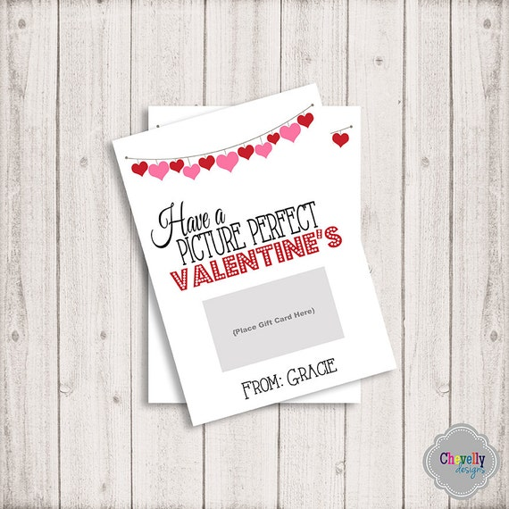 Personalized Movie Valentine Gift Card Printable Val008 Etsy