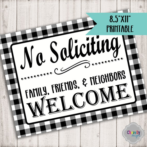 image about Printable No Soliciting Sign referred to as No Soliciting Signal, Printable, farmhouse, buffalo test, MISC002 Immediate Obtain