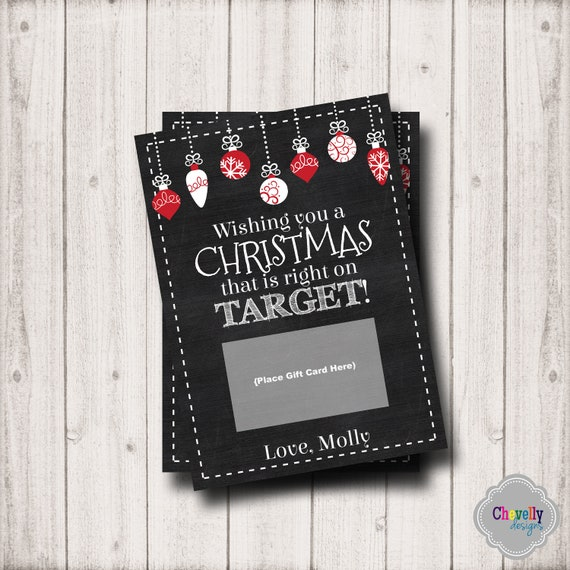 Target Gift Card Holder Christmas Printable Personalized