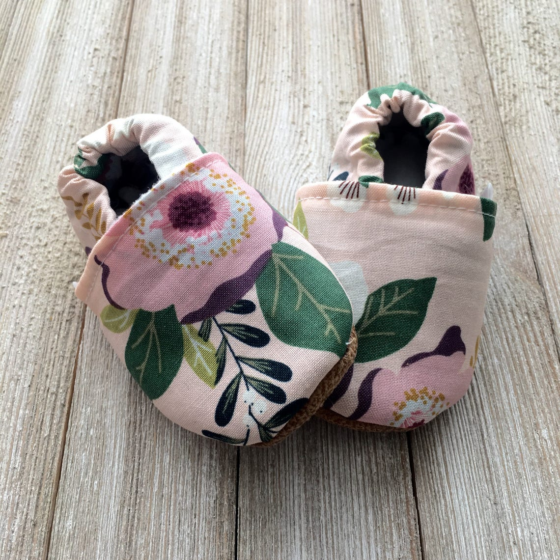 Trendy Baby Moccasins  Pink Floral image 2