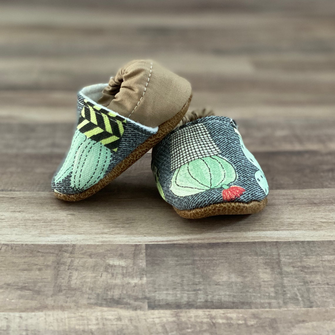Trendy Baby Moccasins  Cactus image 3