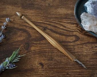 Palo Santo Handmade Wooden Dip Pen, Nib Holder