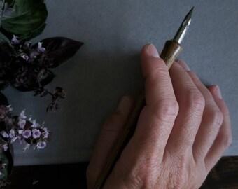 Black Walnut Handmade Wooden Dip Pen, Nib Holder
