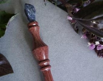 Bubinga and Sodalite Handmade Wooden Nib Holder, Pen Holder, Dip Pen