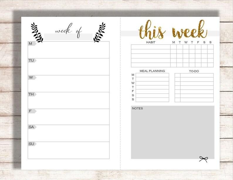 editable weekly planner printable weekly calendar family