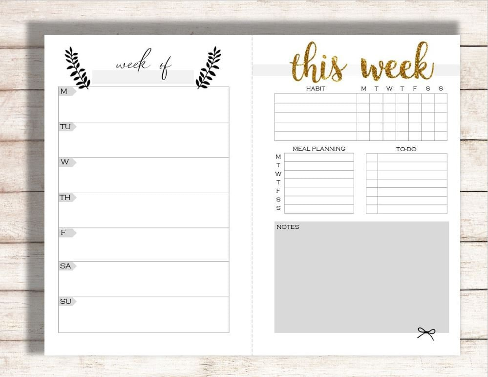 image relating to Blank Weekly Planner named Editable Weekly Planner Printable, Weekly Calendar, Relatives